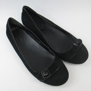 Cole Haan Air Maggy Black Suede Ballet Flat 9,5 B